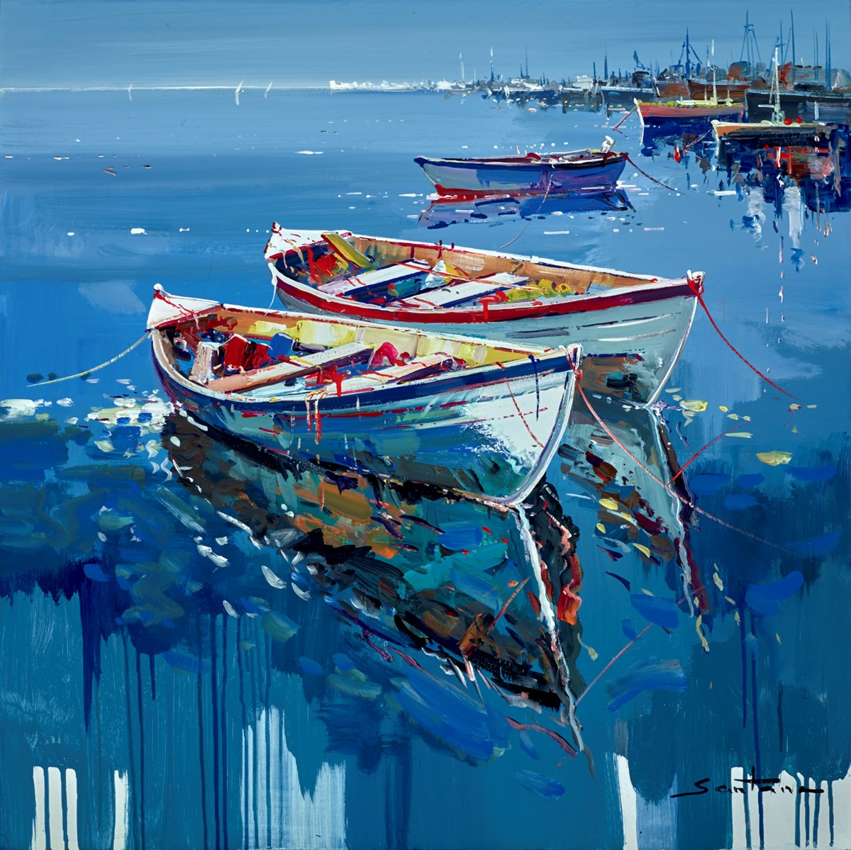 Summer Mooring II by santana -  sized 32x32 inches. Available from Whitewall Galleries